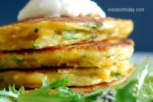 pumpkin zucchini corn pancakes 1