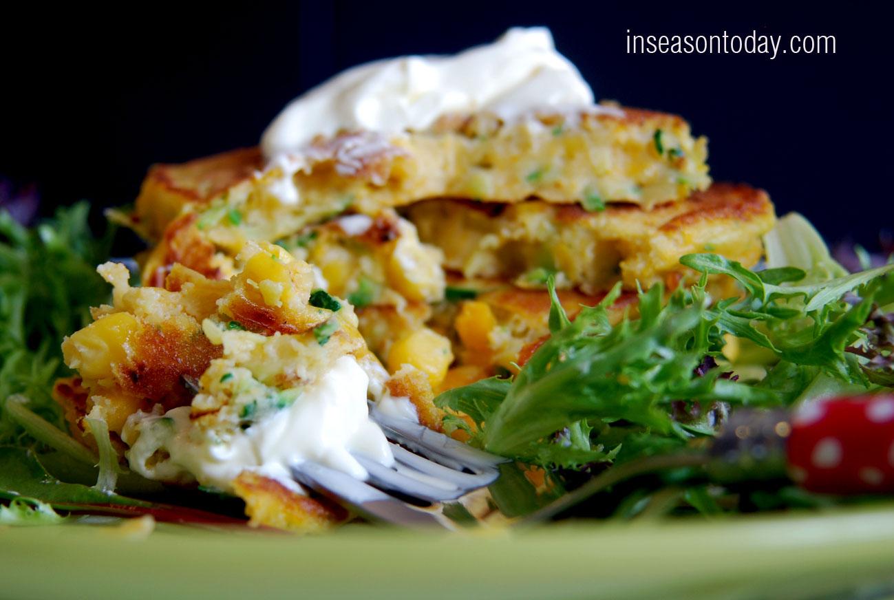 pumpkin zucchini corn pancakes 4