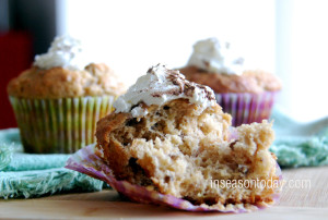 banana and cinnamon muffins 4