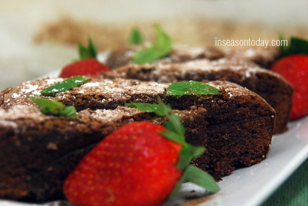 chocolate mint brownies 1