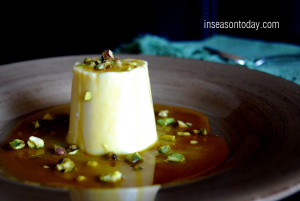 orange blossom panna cotta with burnt orange sauce and pistachio 5