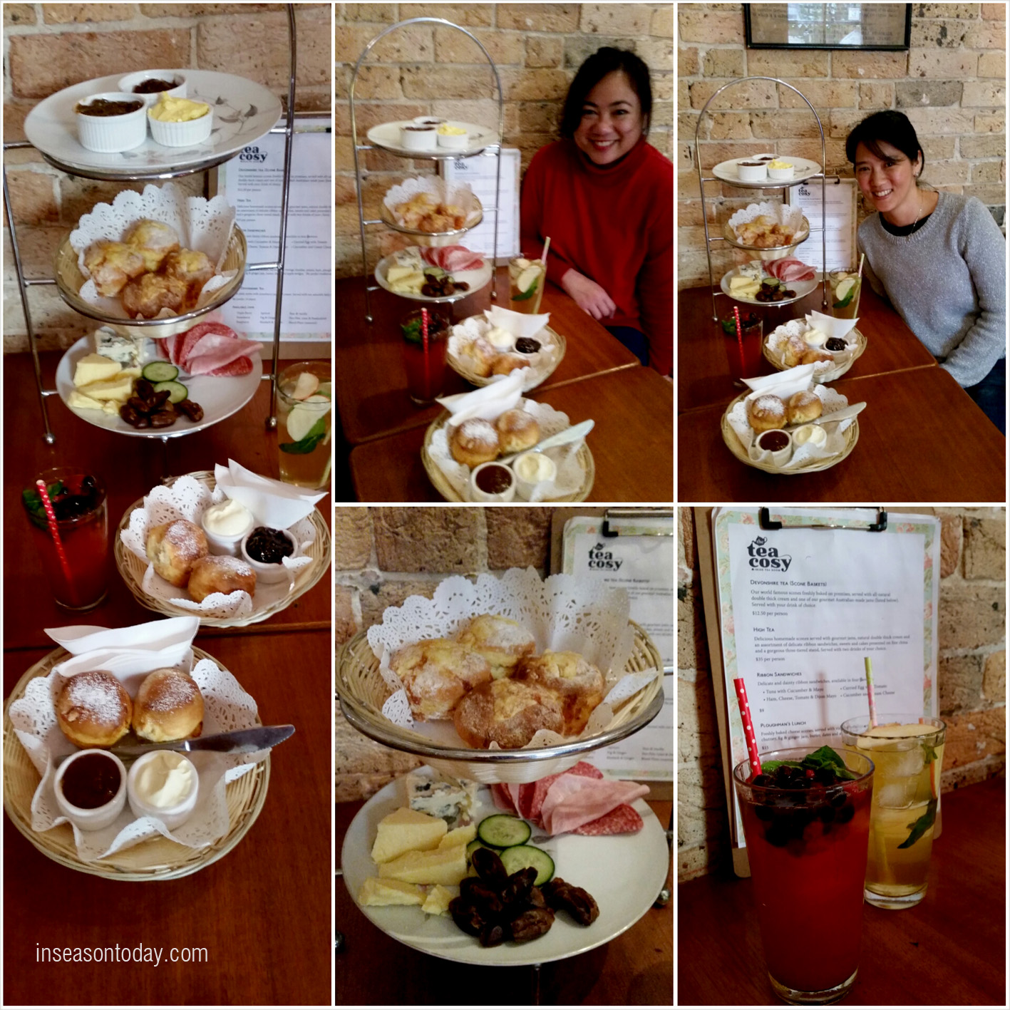 Ploughman's lunch. Devonshire tea. Two orders of each for the two of us. We were hungry and we ate them all!