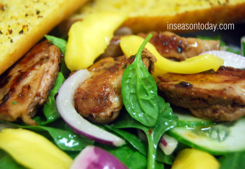 quail mango salad 1