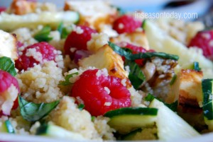 Raspberries and Halloumi Salad With Couscous 2