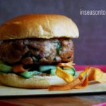 Asian-Style Burger with Sweet Potato Crisps 1