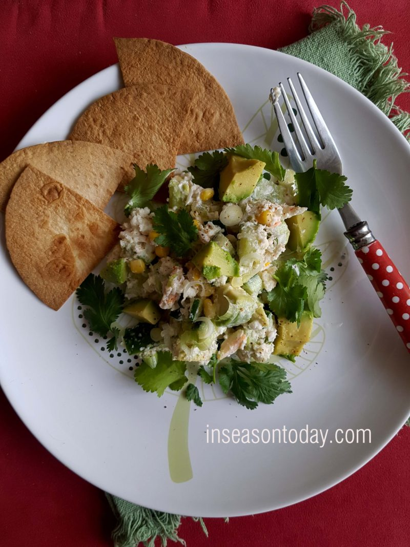 Creamy Avocado and Crab Salad With Toasted Tortillas 1