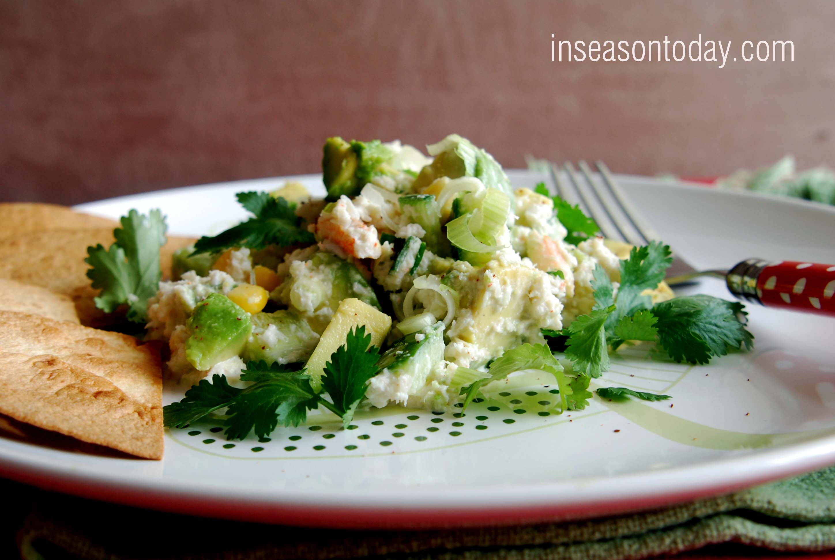 Creamy Avocado and Crab Salad With Toasted Tortillas 2