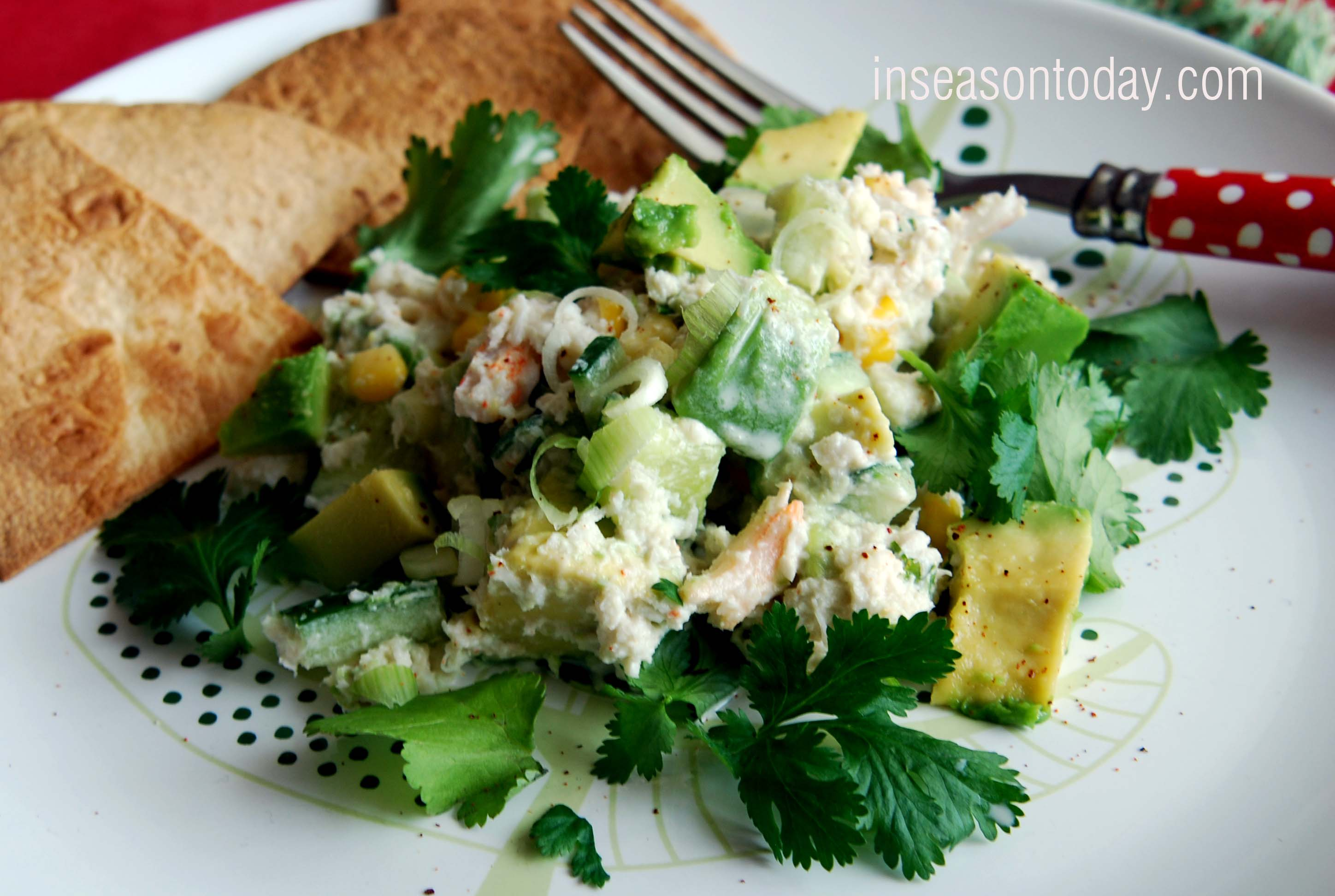 Creamy Avocado and Crab Salad With Toasted Tortillas 3
