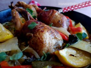 Italian Roasted Quail With Braised Vegetables 1