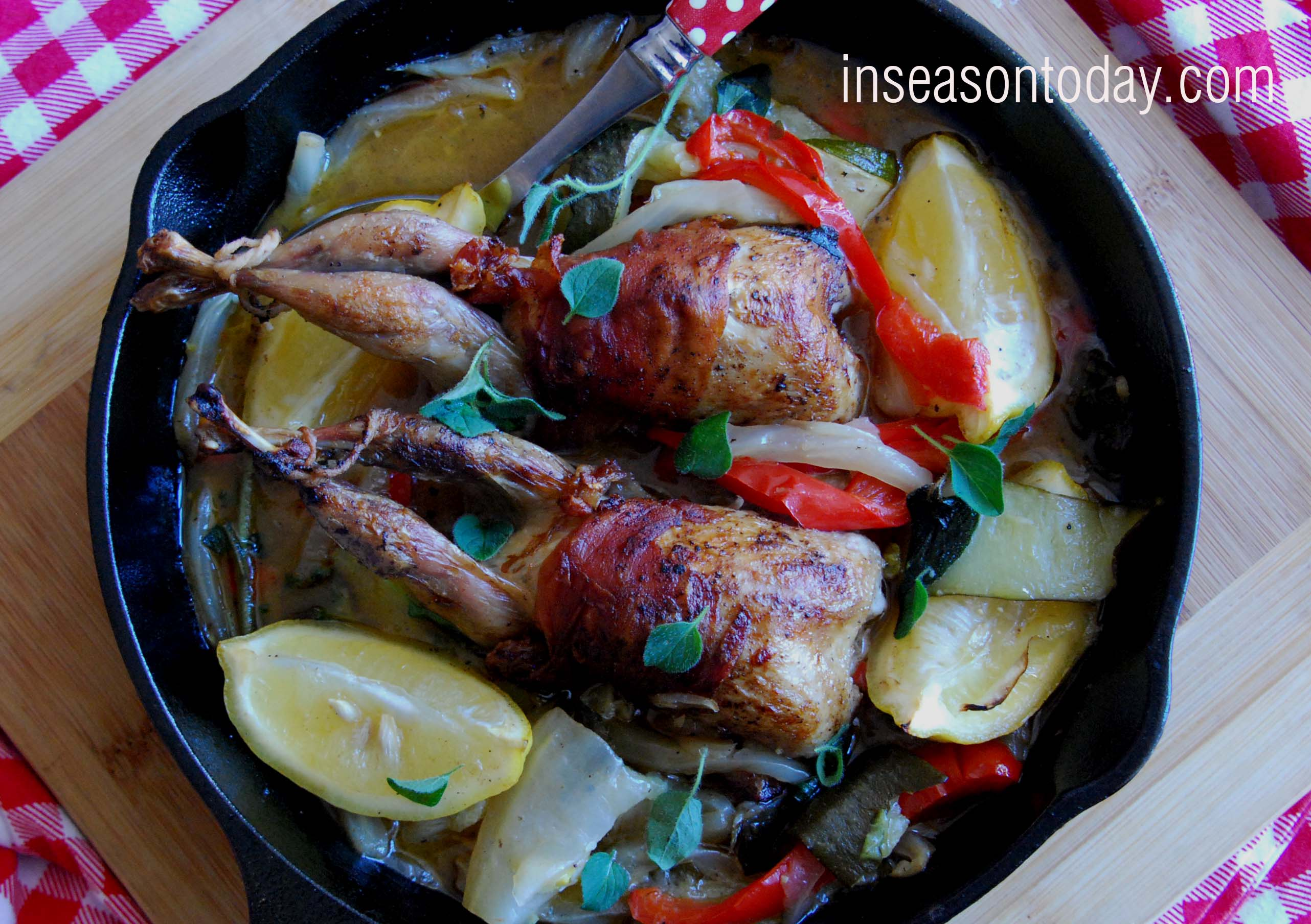 Italian Roasted Quail With Braised Vegetables 2