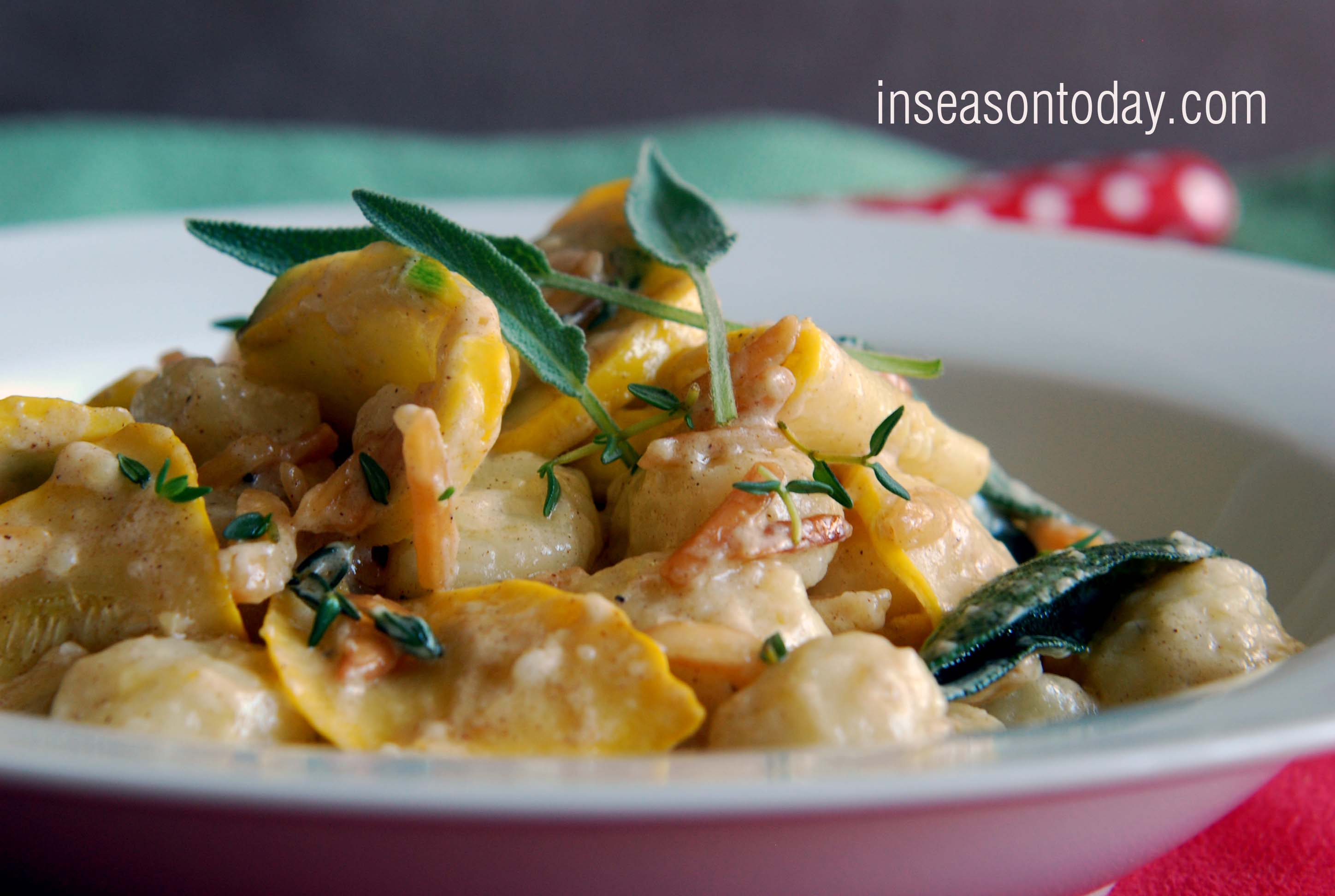 Gnocchi with Brown Butter, Sage and Yellow Squash 4