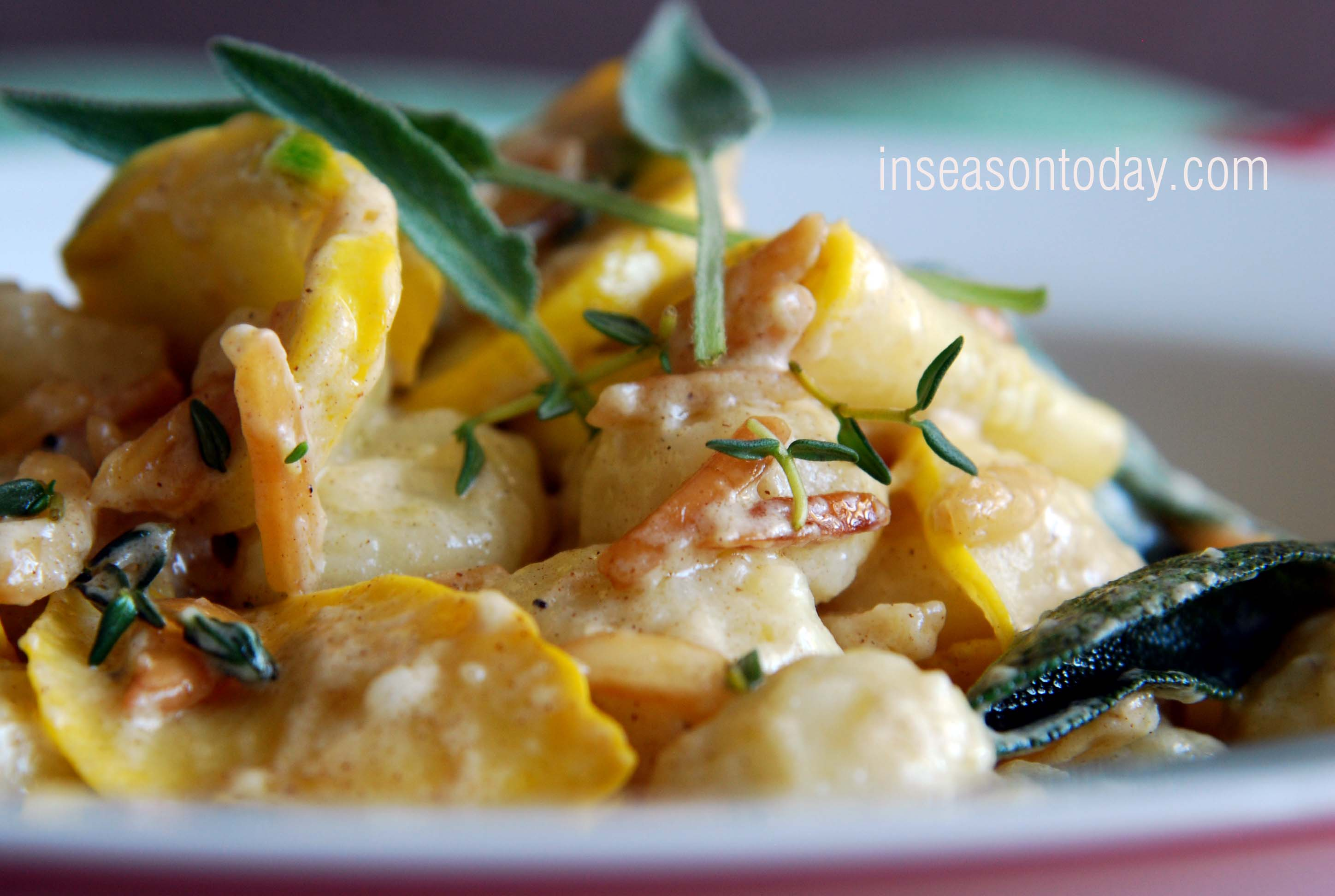 Gnocchi with Brown Butter, Sage and Yellow Squash 5